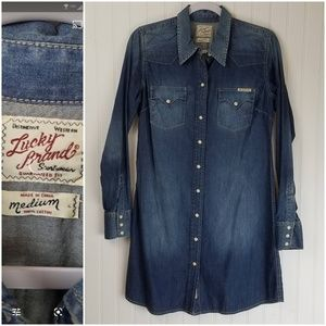 Lucky Brand Distinctive Western Snap Jean Dress